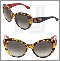 Prada Voice 26Q Cat Eye Sunglasses Havana Black Red Jewel Women Pr PR26QS - $254.43