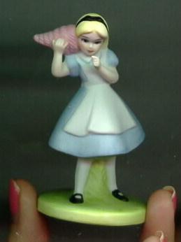 Disney Alice In Wonderland Porcelain Miniature Figurine