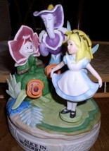Disney Alice in wonderland and  the flowers Music Box - $329.99