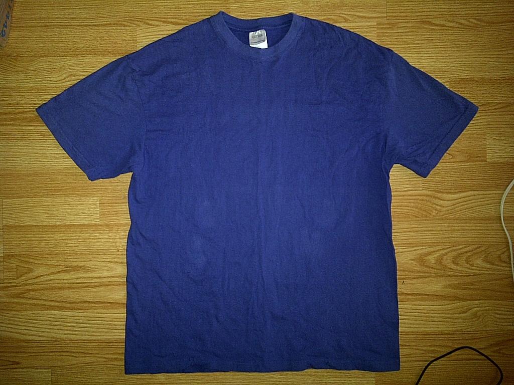 Cotton Heritage Hip Hop Baggy Blank Plain Royal Blue Tee T-Shirt 2xl XXL 2x