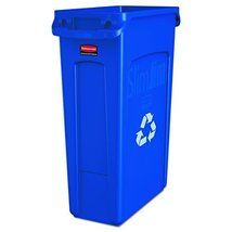 Rubbermaid Commercial Slim Jim Recycling Container with Venting Channels... - $69.04