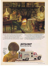1975 NYLINT Steel Toys Brink's Bank Truck 4170 boy & grandparents Print Ad - $9.99