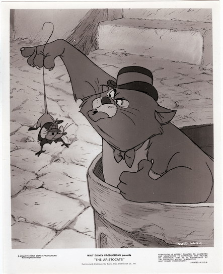 Disney Aristocats Russia Cat Mouse orig. Press Photo
