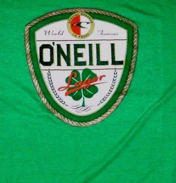 O'Neill Men's Dublin T-Shirt World Famous Lager Beer Green St. Patrick's Sz-M