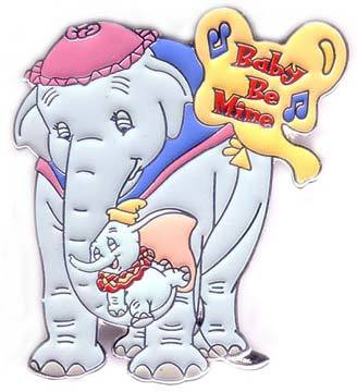 Disney Baby Be Mine Dumbo with mom Pin/Pins