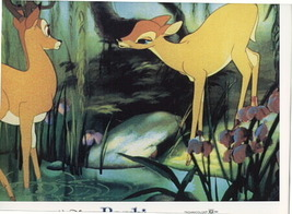 Disney Bambi Lobby Card very hard to find from 1982 - $16.27