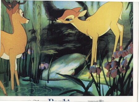 Disney Bambi Lobby Card very hard to find from 1982