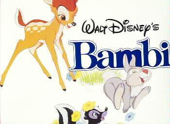 Disney Bambi Thumper Flower Movie  Bambi Lobby Card