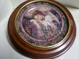 "Bradford Exc. ""SERENITY"" 1993 Gardens of Innocence Angel Plate w/ Wooden Frame - $59.40"