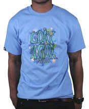 In4mation Mens Carolina Blue G'Day Happy Flower Power Good day T-Shirt NWT image 1
