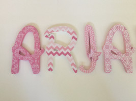 Wood Letters-Nursery Decor- Pink & Dark Pink-Price Per Letter-Custom mad... - $12.50