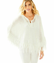NWT LILLY PULITZER NEW Resort White Val Sweater Poncho XXS XS - $111.20