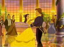 Disney Beauty & Beast Dancing Lithograph - $23.93