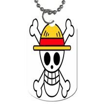 Luffy Skull Pirates Flag Wanted One Piece Manga Anime Dog Tag necklace K... - $10.00