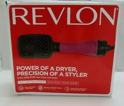 Revlon Hair Dryer And Volumizer Hot Air Brush One Step Black and Pink - $32.39