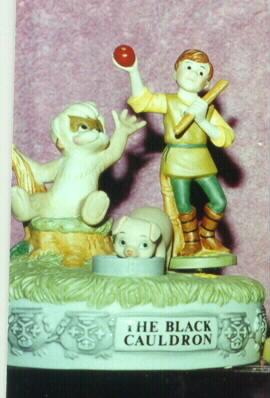 Disney The Black Cauldron Music Box Figurine Ship World