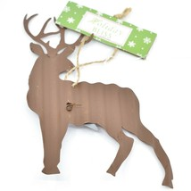 Holiday Bliss Rustic Metal Deer w Silver Star Christmas Ornament image 2