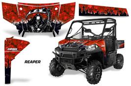 UTV Graphics Kit SxS Decal Wrap For Polaris Ranger 570 900 2013-2015 REAPER RED - $395.95