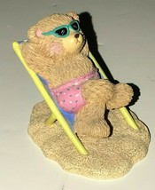 Russ Berrie Moments of Happiness Endless Summer Tanning Bear Figurine - $2.99