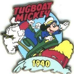 Disney Captain Tugboat Mickey  dated 1940  Pin/Pins