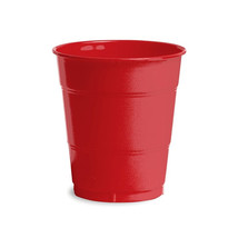 12 oz Solid Plastic Cups Classic Red/Case of 240 - $55.88