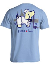 Puppie Love Rescue Dog Adult Unisex Short Sleeve Graphic T-Shirt, Navy Pup image 1