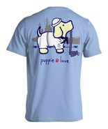 Puppie Love Rescue Dog Adult Unisex Short Sleeve Graphic T-Shirt, Navy Pup - $19.99