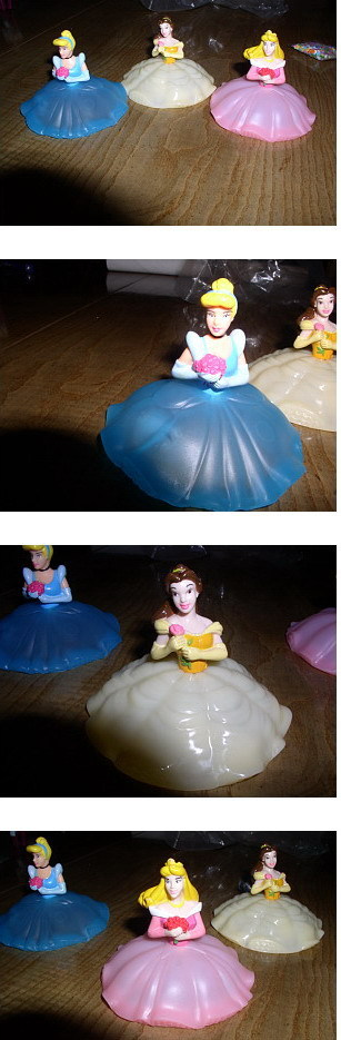 Disney Cinderella Belle Sleeping Beauty 3 Figurines