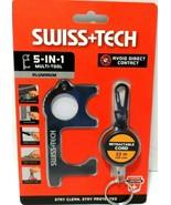 Swiss+Tech 5-In-1 Multi-Tool Avoid Direct Contact Aluminum Door Opener NEW - $9.73