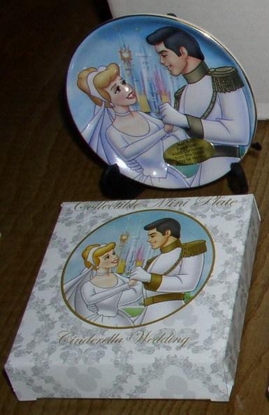 Disney Cinderella & Prince Wedding Porcelain Plate