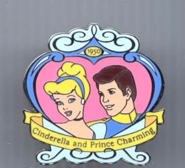 Disney Cinderella & Prince dated 1950 Pin/Pins