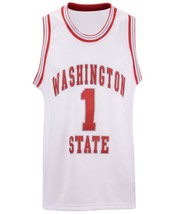 Klay Thompson #1 College Basketball Custom Jersey Sewn White Any Size image 4