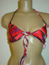 Xhilaration red black bikini two piece set swimsuit-M L-NWT NEW image 2