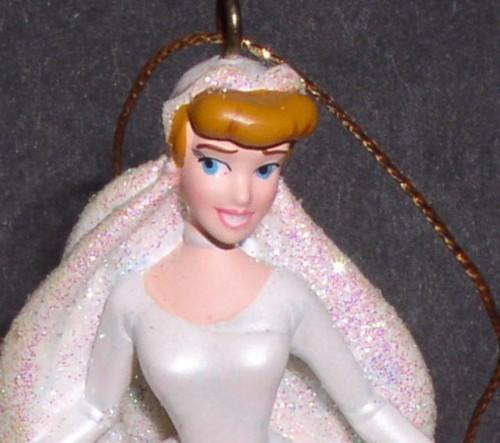 Disney Cinderella wedding dress ornament figurine