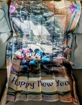 Disney Mickey Minnie Mouse Happy New Year Indoor Outdoor Flag KINKADE Collection - $24.66