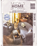 McCalls 3141, Home Decorating, Cover Essentials Sofa Cover Chair Cover, ... - $11.00