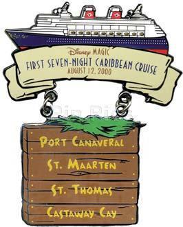 Disney DCL - Disney Magic Cruise ship first pin/pins