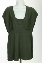 Polo Ralph Lauren Haut Mélange de Soie Vert Femmes Taille TAILLE L B35 - $33.08