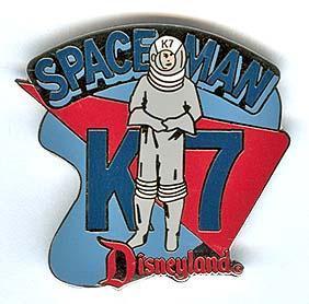 Disney DL 1998 Attraction Spaceman K7 pin/pins