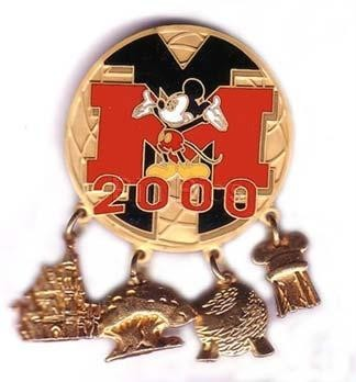 Disney DLR - Disneyland  Mickey Mouse 4 park pin/pins