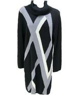 Amanda Charles Black Cowl Neck Long Sleeve Acrylic Sweater Dress Women S... - $24.42
