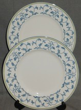 Set (2) Fitz & Floyd ALFRESCO GARLAND PATTERN Salad Plates - $29.69