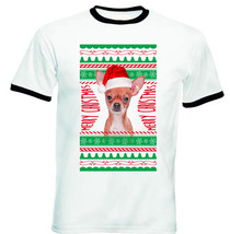 Chichuahua Real Ugly Christmas - New Black Ringer Cotton Tshirt - $19.53