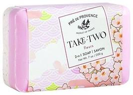 Pre De Provence Take Two Fleurs Floral French Bar Soap 200g / 7oz Shea B... - $9.99
