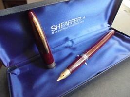 SHEAFFER ADMIRAL PENNA STILOGRAFICA BORDEAUX E ORO Fountain Pen Burgundy... - $57.15