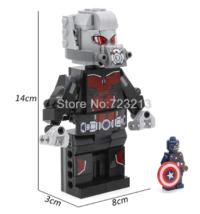 Custom Set Antman with Captain America Lego Fit Minifigure Toys 14 cm - $26.00