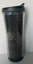 2007 RARE Starbucks 16oz 3D Black/Silver Tumbler  Mug Travel w/ STARBUCK... - $24.26