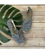 J.Crew Womens Blue Plaid Espadrille Flats Size 8 Slip On Canvas Casual - £30.65 GBP