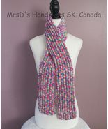 Bright Colorful Scarf 51 Inch Childrens Boys Girls Knitted Ribbed Scarf - $22.00