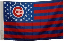 Chicago Cubs Baseball Stars and Stripes Banner Flag 3'x5' - $19.99